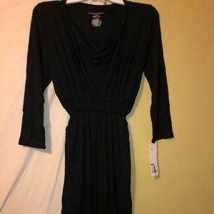 Liz Lange maternity dress black NWT